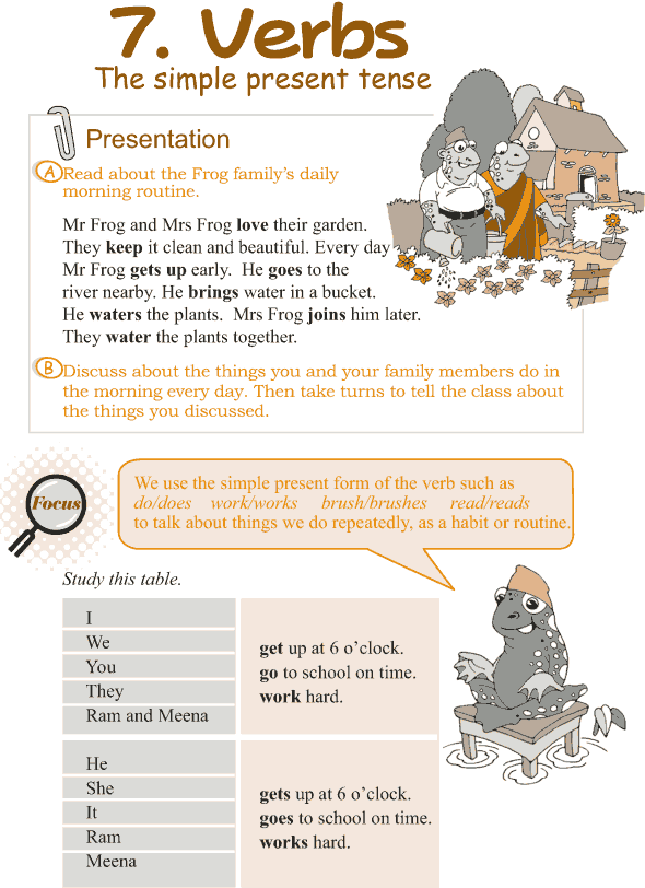 Grade 3 Grammar Lesson 7 Verbs - the simple present tense
