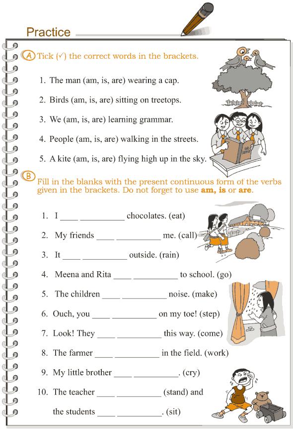 Grade 3 Grammar Lesson 8 Verbs - the present continuous tense (2)