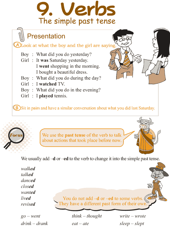 Grade 3 Grammar Lesson 9 Verbs - the simple past tense (1)