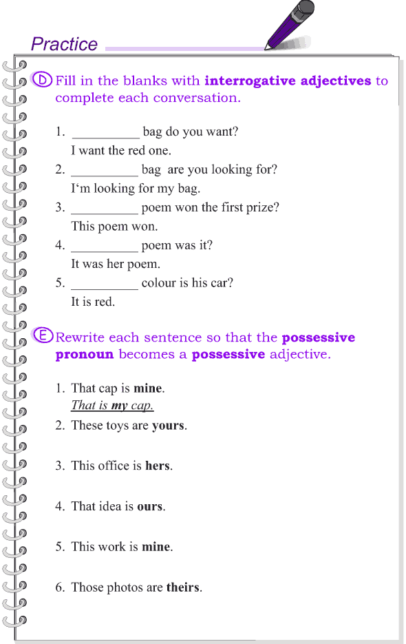 Grade 4 Grammar Lesson 10 Kinds of adjectives (5)