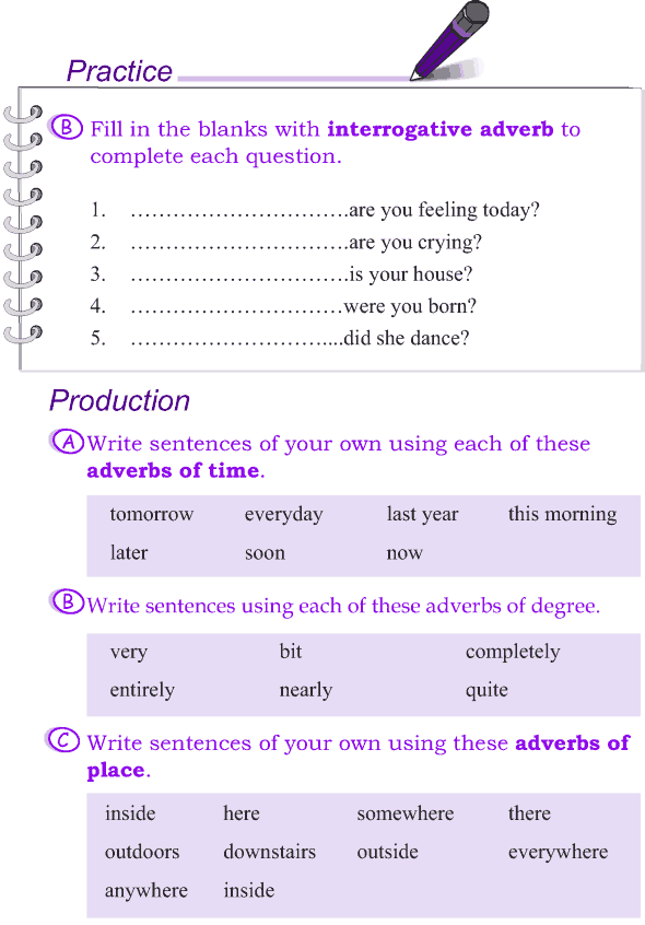 Grade 4 Grammar Lesson 11 Kinds of adverbs (5)