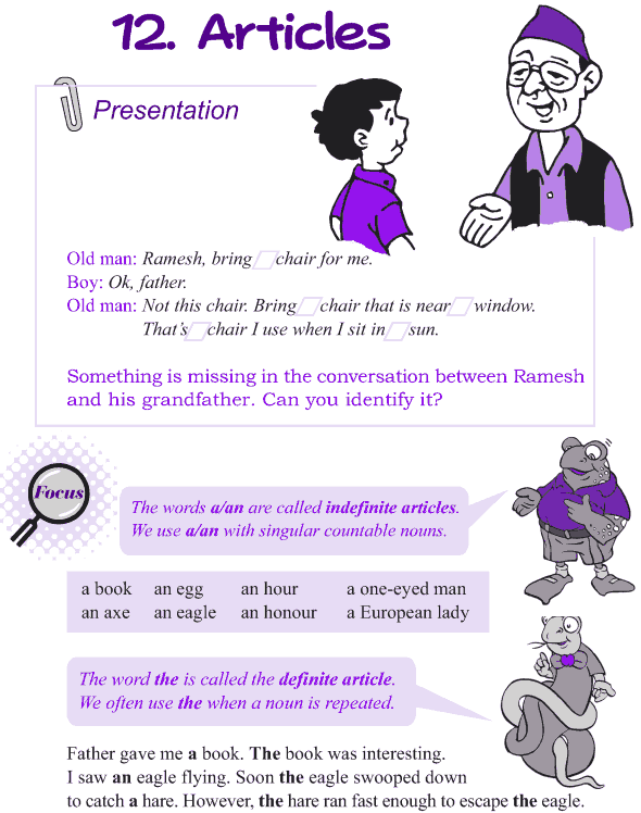 Grade 4 Grammar Lesson 12 Articles (1)