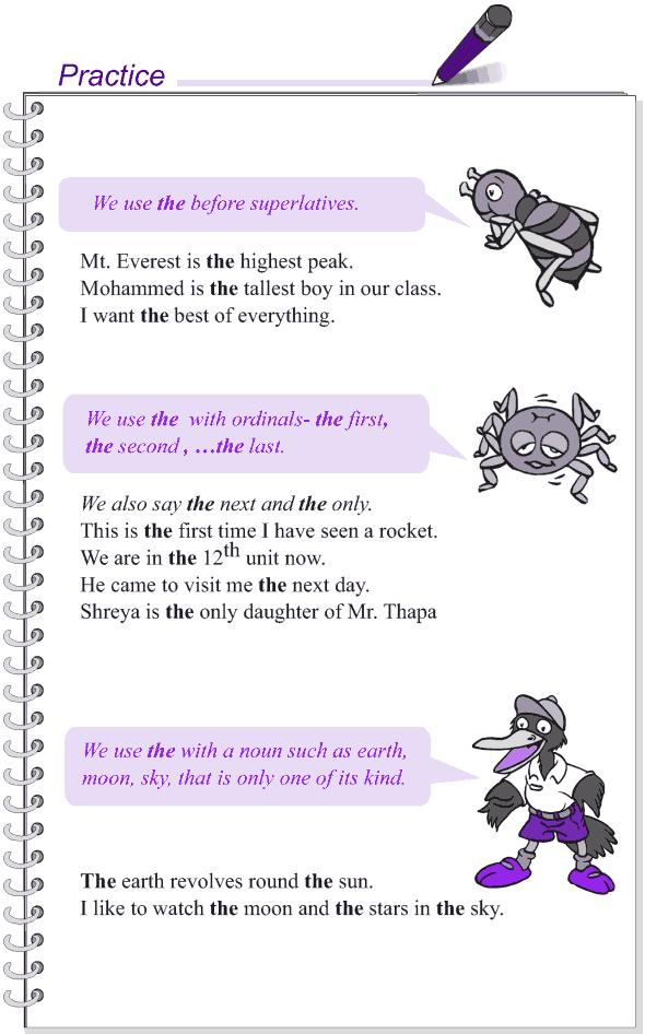Grade 4 Grammar Lesson 12 Articles (3)