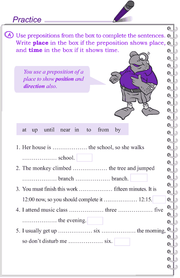 Grade 4 Grammar Lesson 15 Prepositions (2)