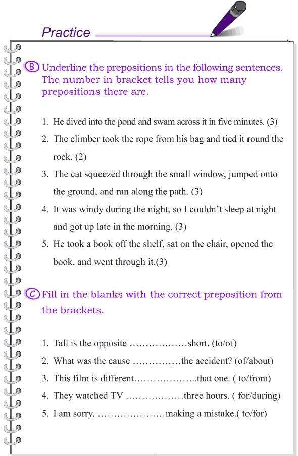 Grade 4 Grammar Lesson 15 Prepositions (3)