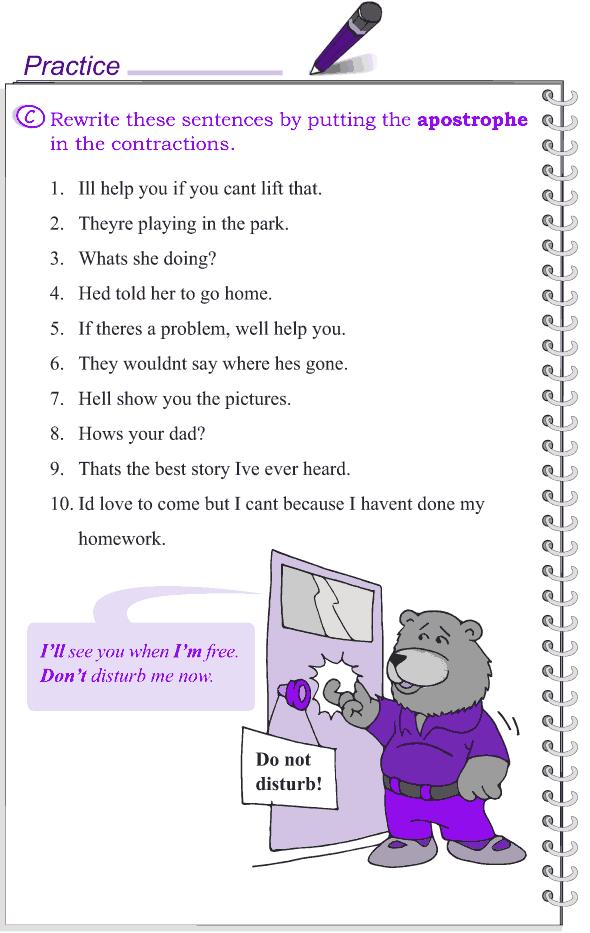 Grade 4 Grammar Lesson 16 Contractions (3)