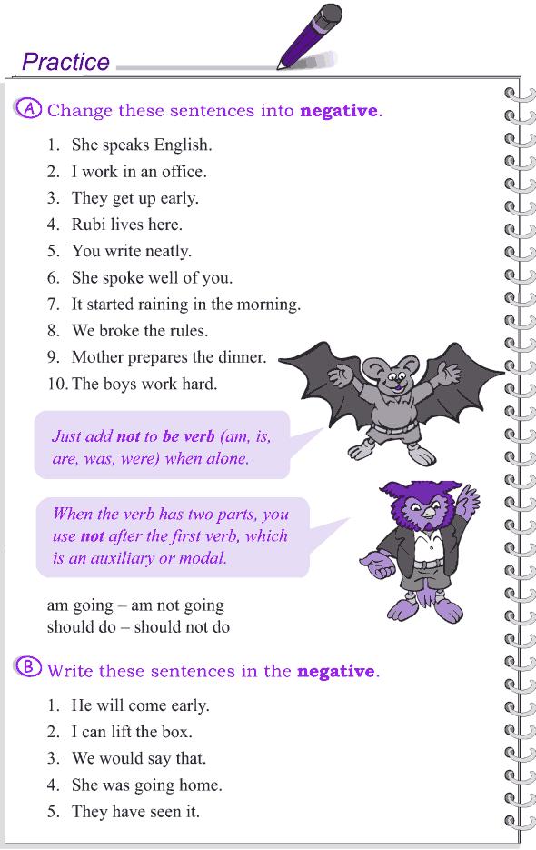 Grade 4 Grammar Lesson 17 Negation (3)