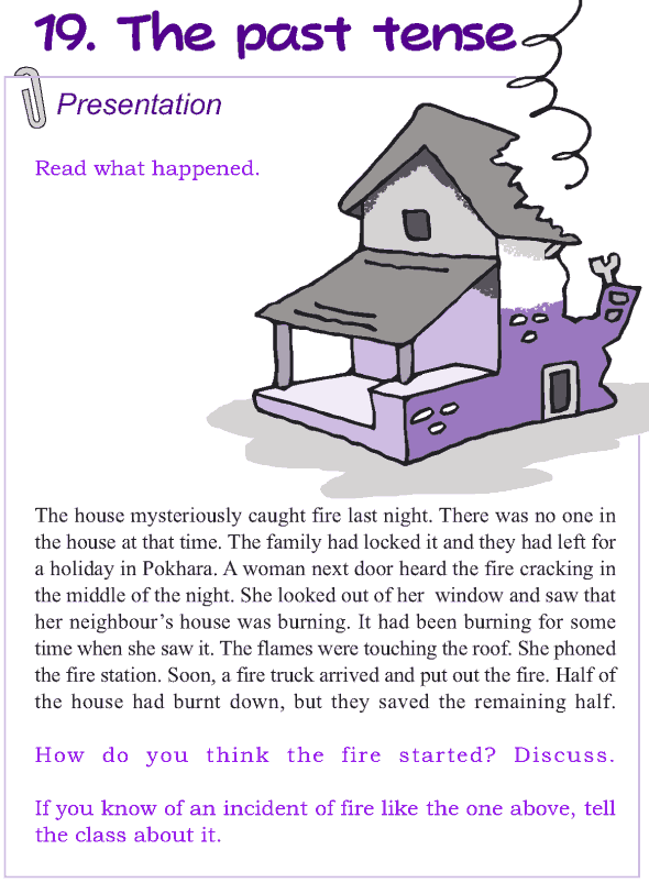 Grade 4 Grammar Lesson 19 The past tense