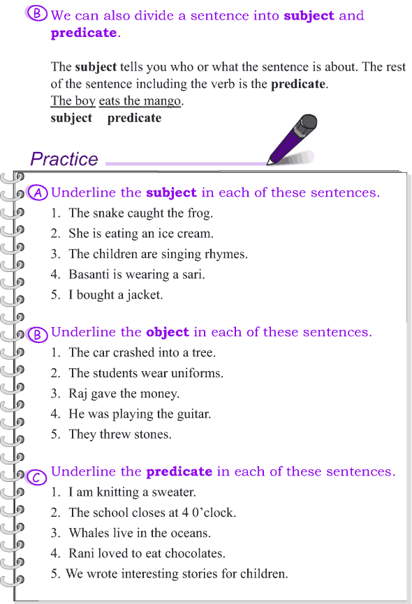 Grade 4 Grammar Lesson 2 The sentence - subject, object and predicate (2)