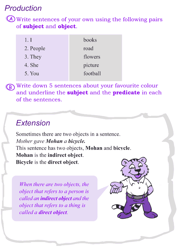 Grade 4 Grammar Lesson 2 The sentence - subject, object and predicate (3)