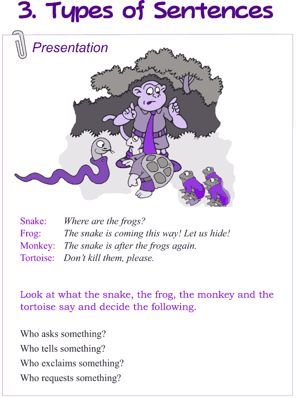 Grade 4 Grammar Lesson 3 Types of sentence