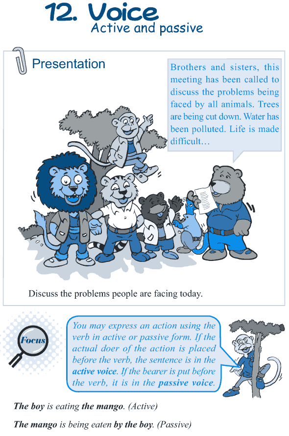 Grade 5 Grammar Lesson 12 Voice active and passive