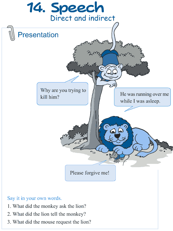 Grade 5 Grammar Lesson 14 Speech direct and indirect