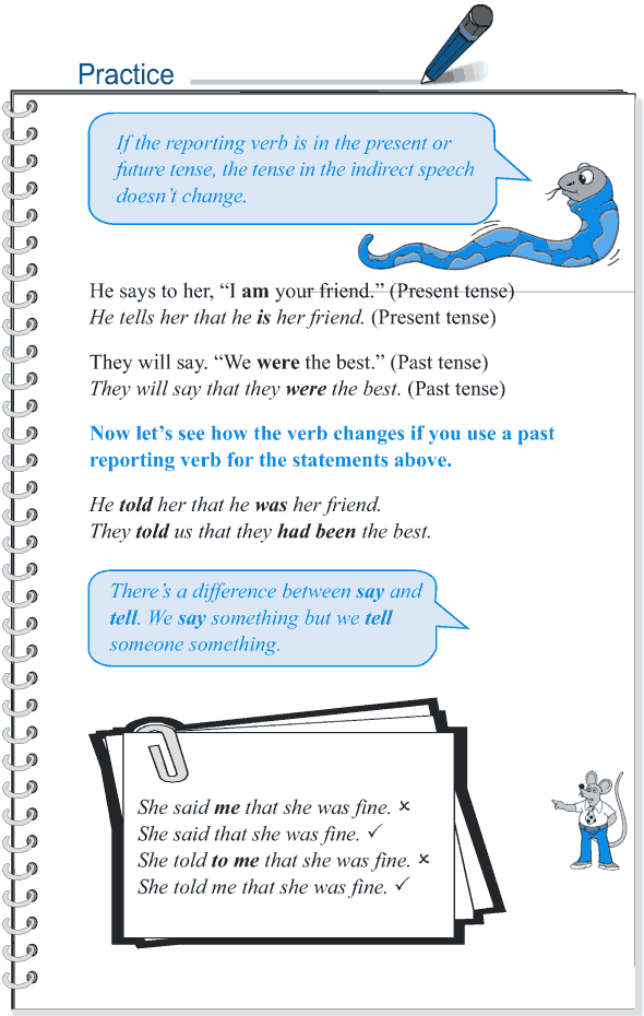 Grade 5 Grammar Lesson 14 Speech direct and indirect (5)
