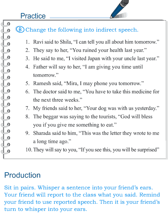 Grade 5 Grammar Lesson 14 Speech direct and indirect (7)
