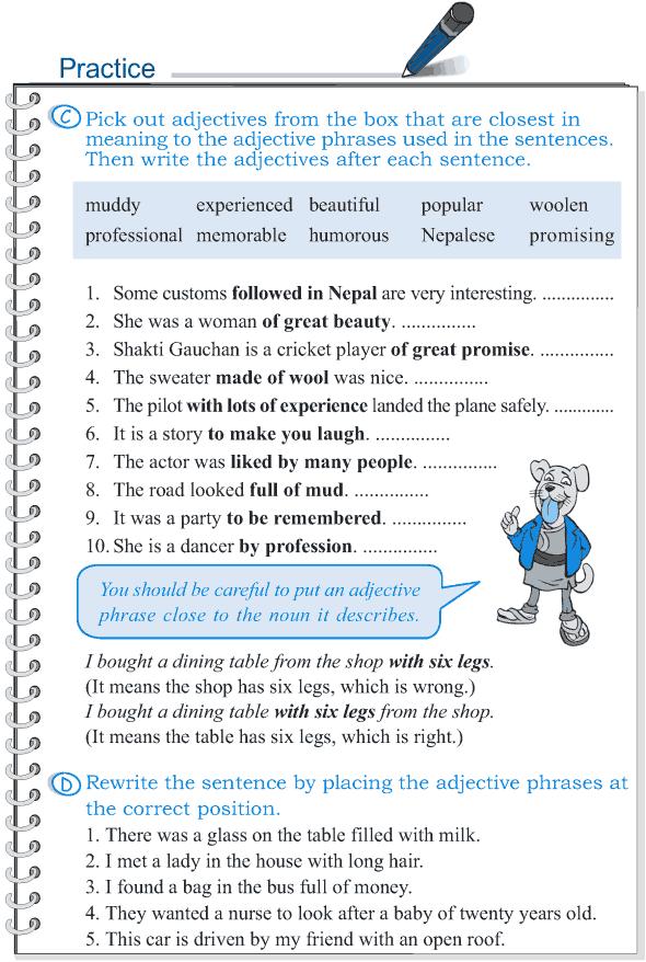 Grade 5 Grammar Lesson 4 The phrase (3)