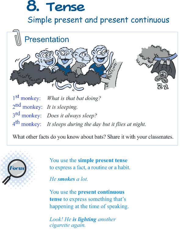 Grade 5 Grammar Lesson 8 Tense simple present and present continuous (1)