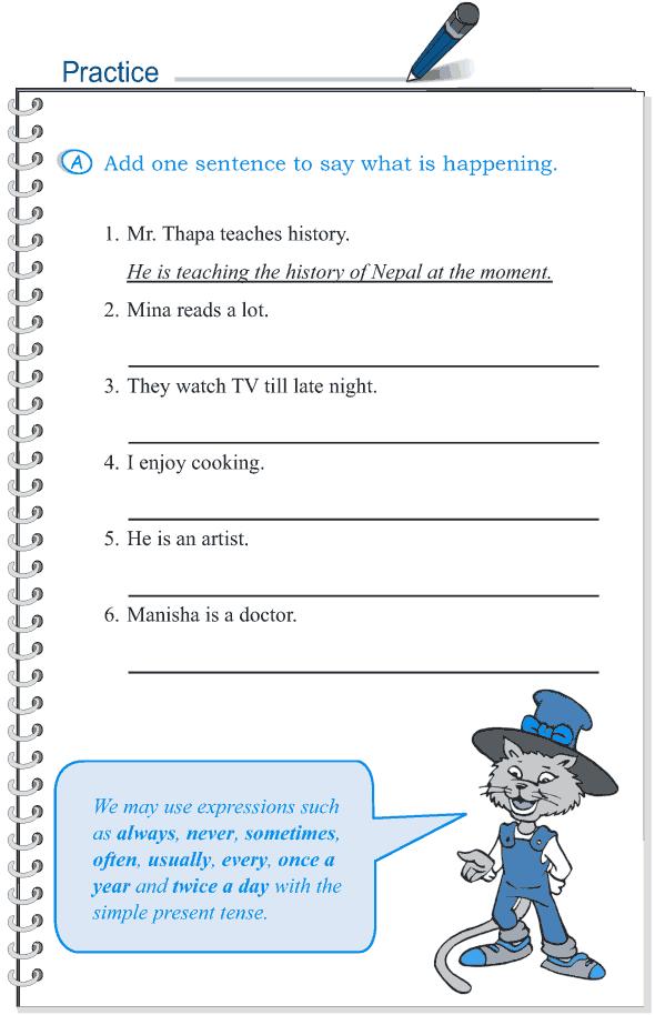 Grade 5 Grammar Lesson 8 Tense simple present and present continuous(2)