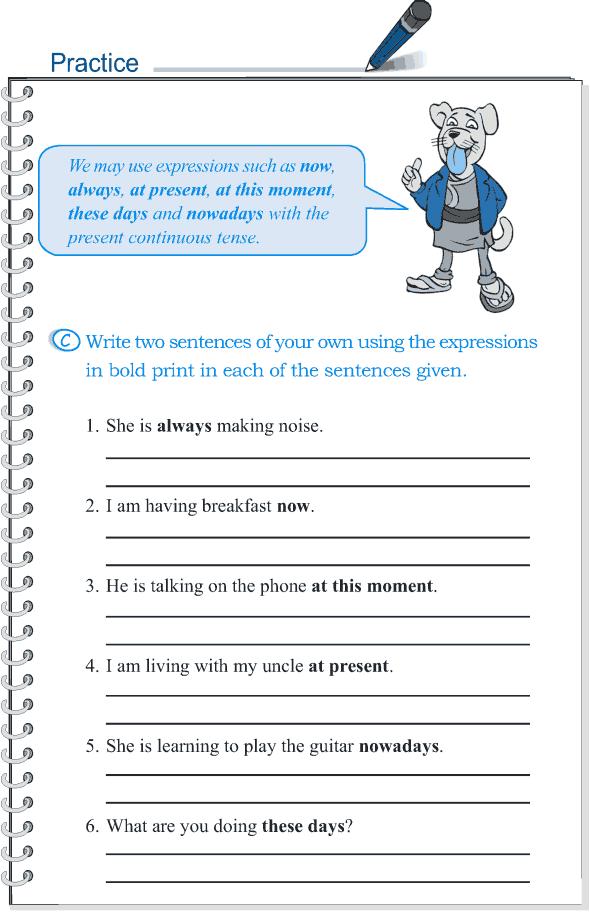 Grade 5 Grammar Lesson 8 Tense simple present and present continuous(4)