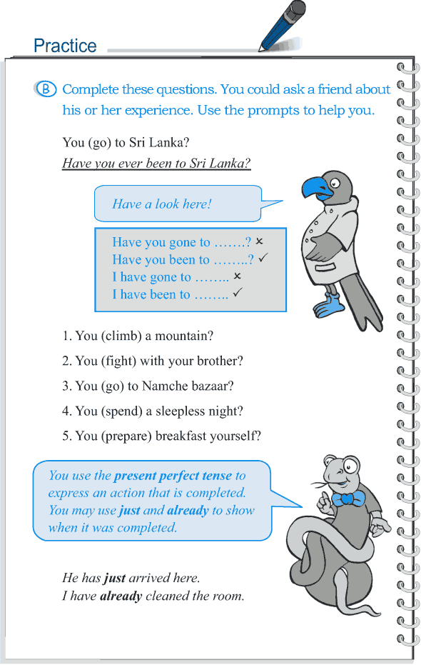 Grade 5 Grammar Lesson 9 Tense simple past and present perfect (4)