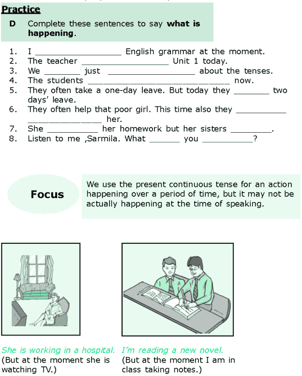 Grade 6 Grammar Lesson 1 The simple present and the present continuous (3)