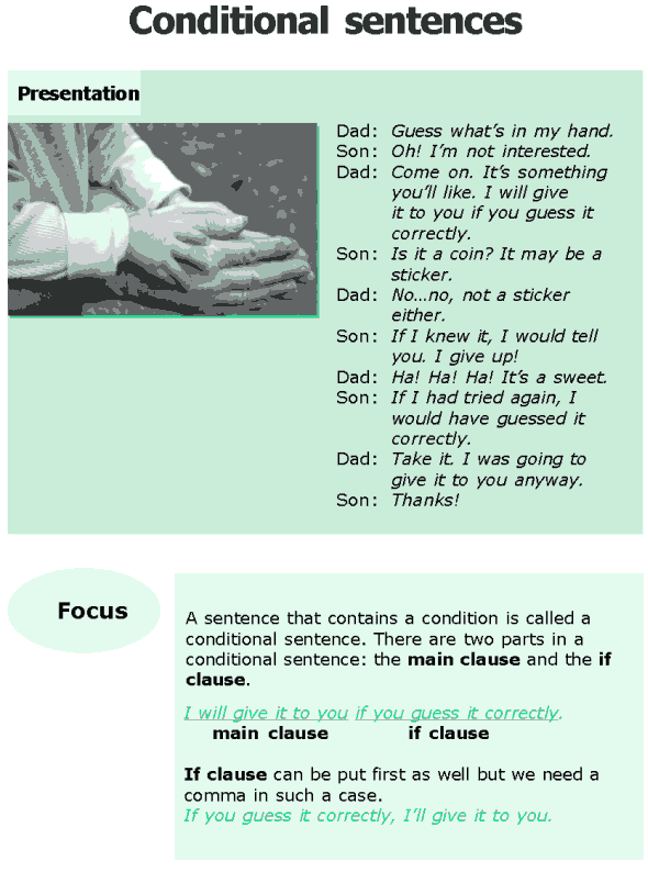 Grade 6 Grammar Lesson 12 Conditional sentences