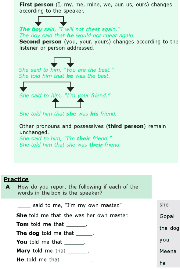 Grade 6 Grammar Lesson 13 Direct and indirect speech (1)
