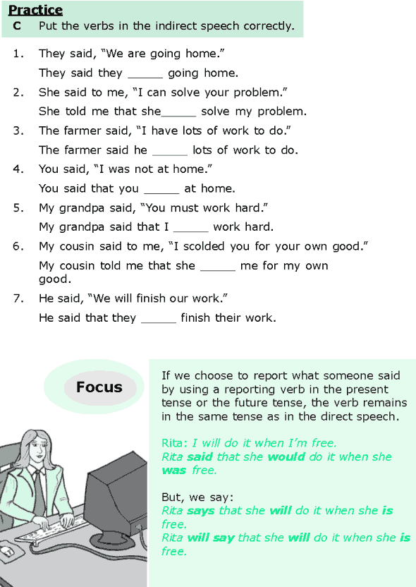 Grade 6 Grammar Lesson 13 Direct and indirect speech (3)