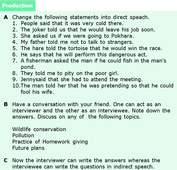 Grade 6 Grammar Lesson 13 Direct and indirect speech (7)
