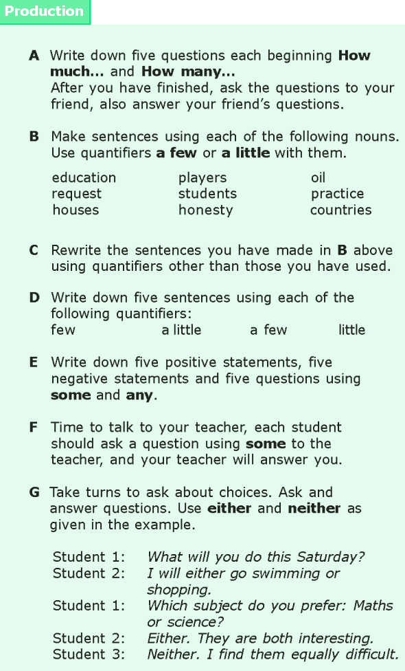 Grade 6 Grammar Lesson 16 Quantifiers (7)