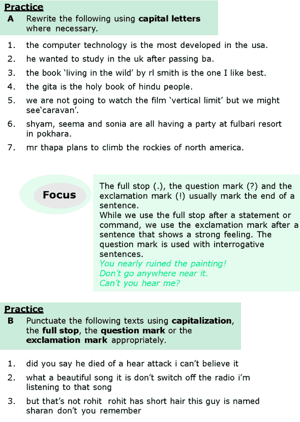 Grade 6 Grammar Lesson 17 Capitalization and punctuations (1)