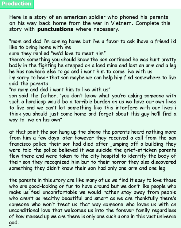 Grade 6 Grammar Lesson 17 Capitalization and punctuations (5)