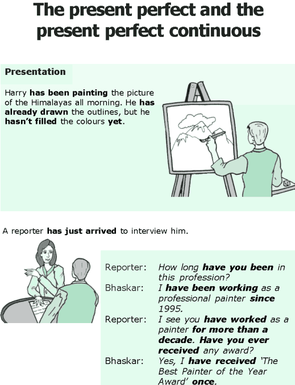 Grade 6 Grammar Lesson 2 The present perfect and the present perfect continuous