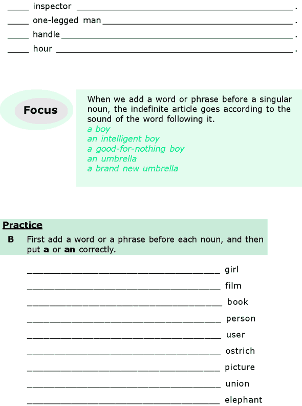 Grade 6 Grammar Lesson 6 Articles and nouns (1)