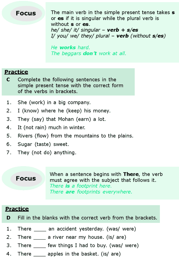 Grade 6 Grammar Lesson 7 Subject-verb agreement (2)
