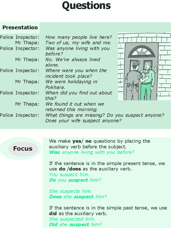 Grade 6 Grammar Lesson 8 Questions
