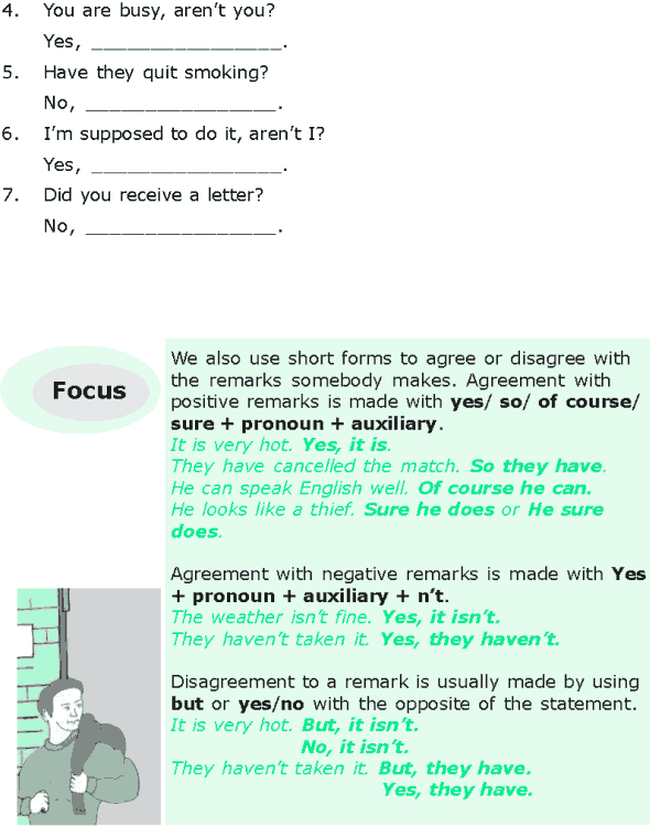 Grade 6 Grammar Lesson 9 Question tags, short answers and addition to remarks (2)