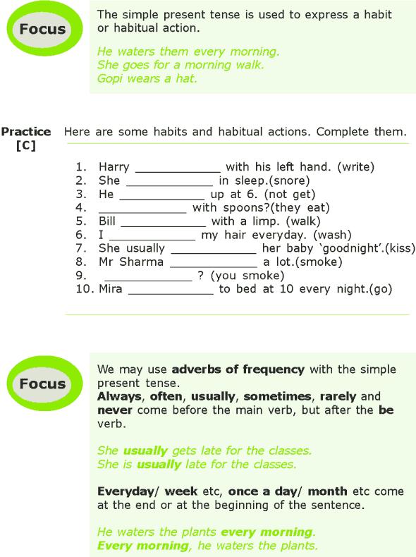 Grade 7 Grammar Lesson 1 The present tense (2)