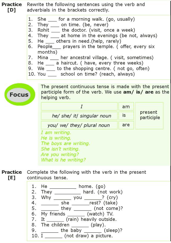 Grade 7 Grammar Lesson 1 The present tense (3)