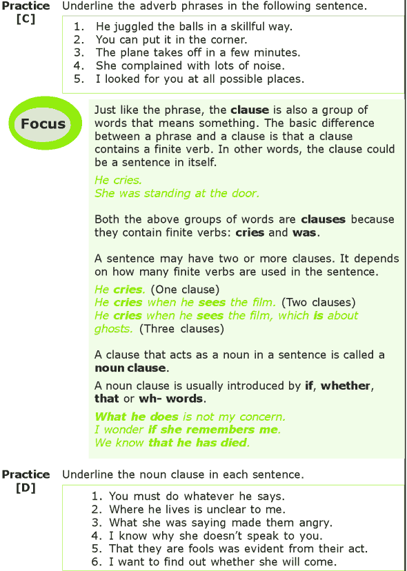 Grade 7 Grammar Lesson 11 The phrase and the clause (2)