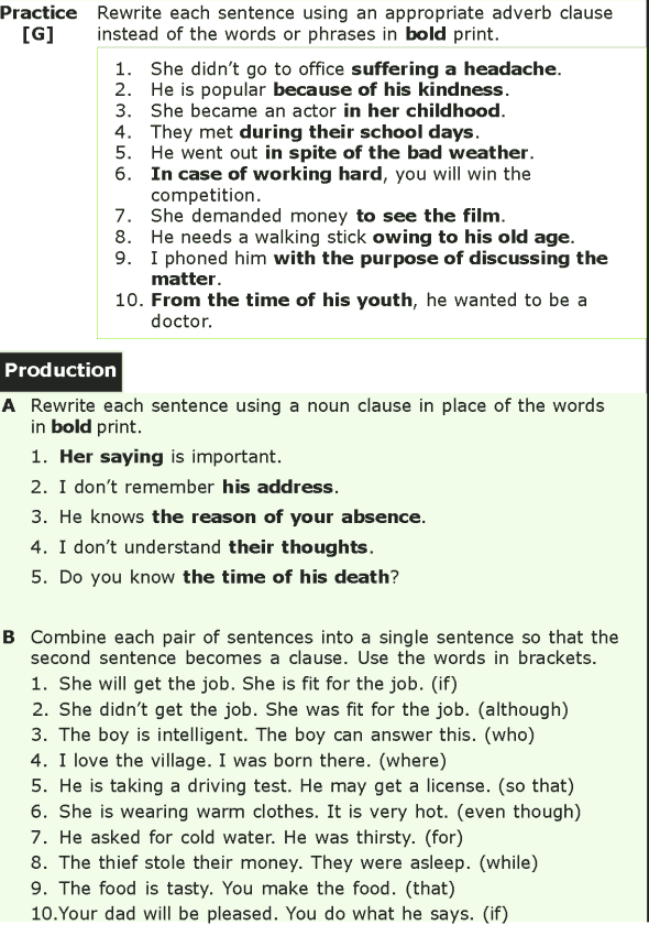 Grade 7 Grammar Lesson 11 The phrase and the clause (4)