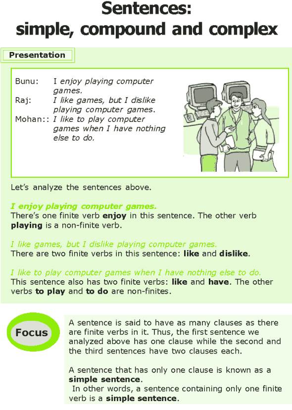 Grade 7 Grammar Lesson 12 Sentences: simple, compound and complex
