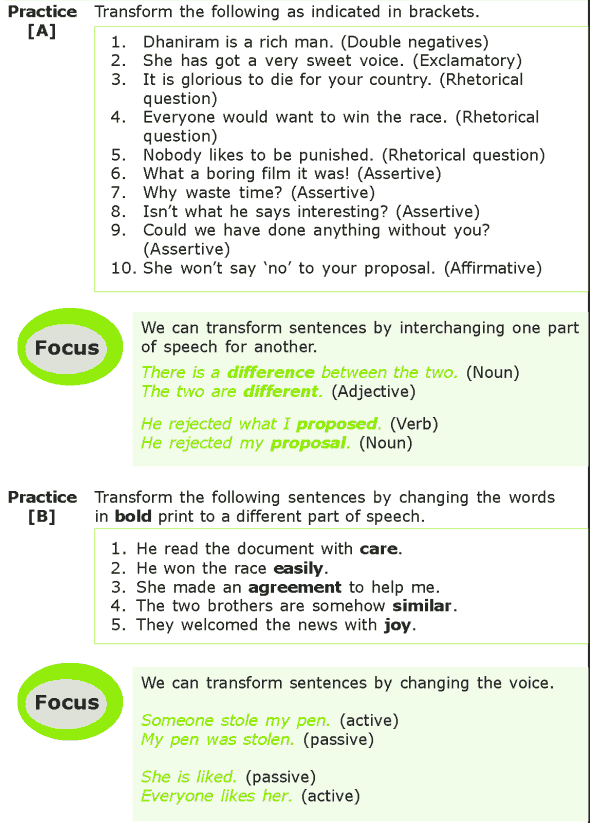 Grade 7 Grammar Lesson 13 Sentence transformation (1)