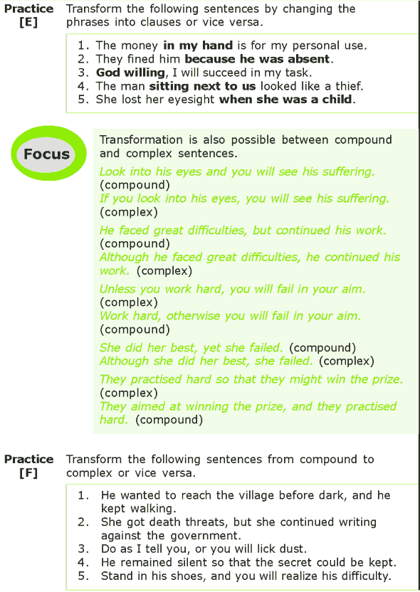 Grade 7 Grammar Lesson 13 Sentence transformation (3)