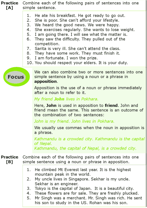 Grade 7 Grammar Lesson 14 Synthesis of sentences (1)