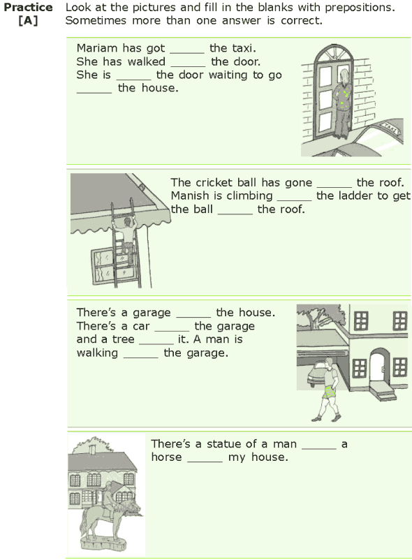 Grade 7 Grammar Lesson 15 Prepositions of location and direction (4)