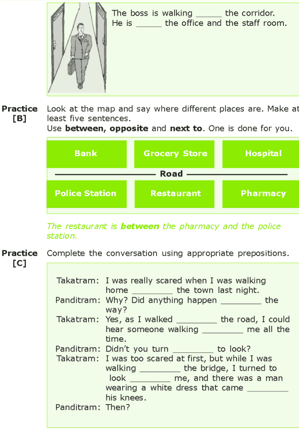 Grade 7 Grammar Lesson 15 Prepositions of location and direction (5)