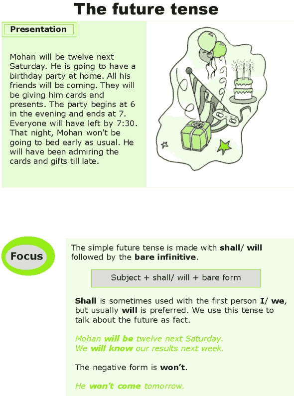 Grade 7 Grammar Lesson 3 The future tense (0)