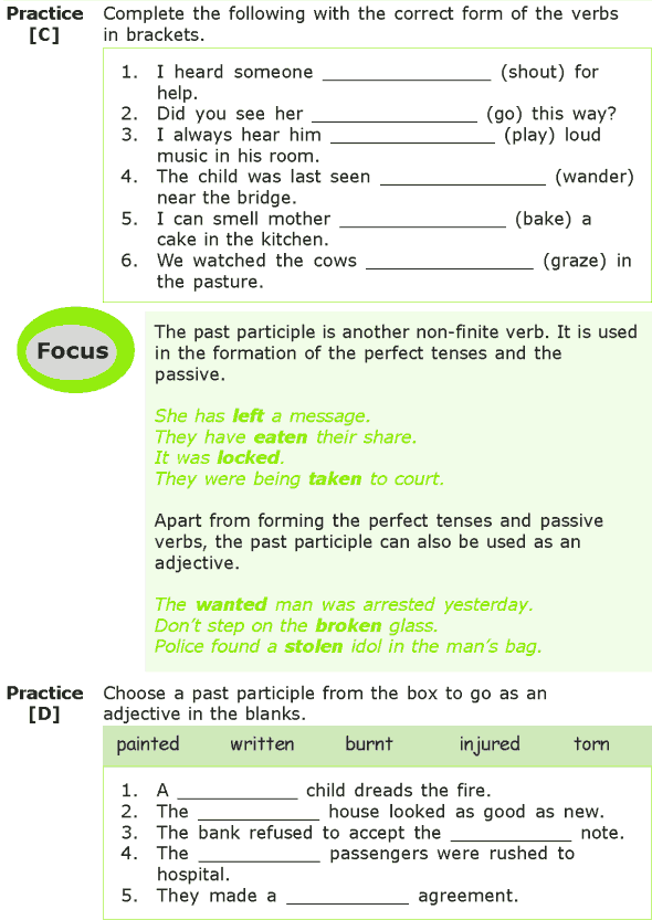 Grade 7 Grammar Lesson 4 Verbs non-finite forms (2)
