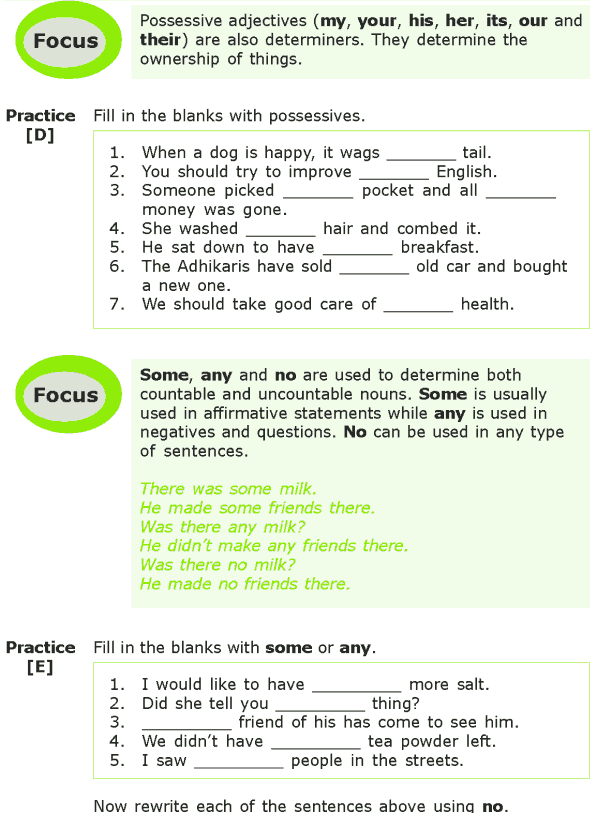 Grade 7 Grammar Lesson 5 Determiners (2)